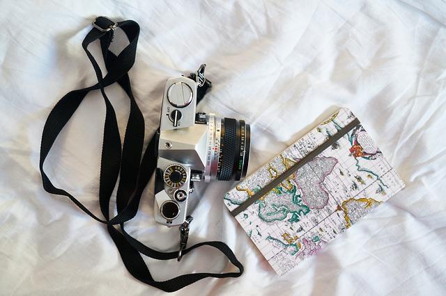 fotoaparát a mapa
