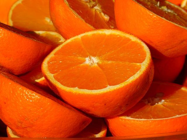 rozkrojené pomeranče