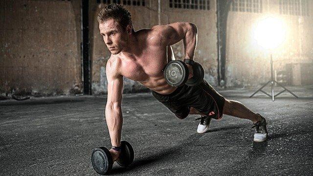 muž cvičení
